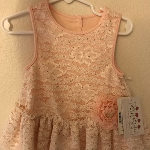 Pippa & Julie: Pink Lace Sequin Dress